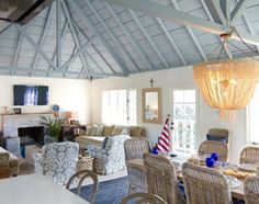 Beach Cottage in Oceanside beach style family room