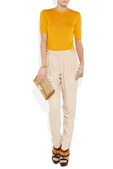 need to crop the ivory work pants i never wear and pair it with mustard yellow for spring!