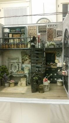 1 Set Handmixer Rosen  Puppenhaus 1 Puppenstuben & -häuser 12 shabby chic  little tiny world