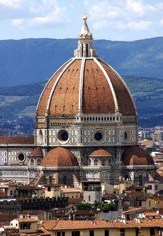 Florenz, Piazzale Michelangelo, Aussicht auf die Domkuppel( (view of the Cathedral's dome)   por HEN-Magonza