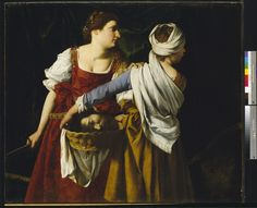 Kunstkritikk — International Gallery  Orazio Gentileschi, Judith and Her Maidservant with the Head of Holofernes, 1611, oil on canvas