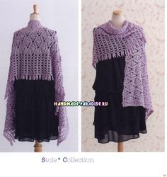 ISSUU - Crochet Shawl and Stole von vlinderieke Poncho Shawl, Crochet Poncho, Knitted Shawls, Crochet Scarves, Crochet Clothes, Crochet Chart, Crochet Stitches, Crochet Patterns, Japanese Crochet