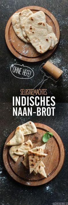 Naan-Brot. Traditionell indisches Fladenbrot lässt sich ganz einfach in der Pfanne selber machen. Auch ganz ohne Hefe.
