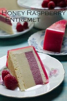 Honey and Raspberry entremet recipe. This elegant looking Honey and Raspberry entremet is light and delicious. Excellent alternative to the usual birthday cake. # fancy Desserts Honey and Raspberry Entremet Elegant Desserts, Fancy Desserts, Homemade Desserts, Best Dessert Recipes, Sweet Desserts, Cupcake Recipes, Just Desserts, Sweet Recipes, Delicious Desserts