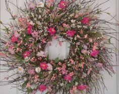 Summer wreath, summer front door wreath, front door wreath, outdoor wreath, summer decoration, cottage wreath, door wreath summer, wreath