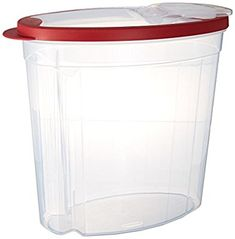 Amazon.com: Rubbermaid1.5 gallon Cereal/Snack Storage Container (3 Pack), Red: Kitchen & Dining
