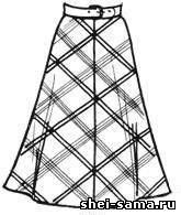 Двухшовная юбка-клеш