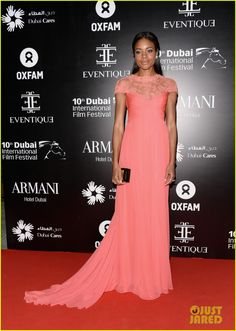Naomie Harris in Monique Lhuillier - At the Oxfam Charity Gala held during the 2013 Dubai International Film Festival on December 11, 2013 at the Armani Hotel in Dubai, United Arab Emirates.