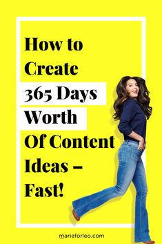 Content marketing strategy - How to Create 365 Days Worth of Content Ideas — FAST – Content marketing strategy Digital Marketing Strategy, E-mail Marketing, Online Marketing, Social Media Marketing, Marketing Strategies, Marketing Ideas, Business Marketing, Affiliate Marketing, Social Media Content