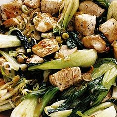 Chicken & Bok Choy Sauteed