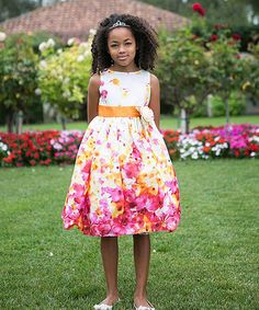 Look what I found on #zulily! Pink & Yellow Floral Dress - Toddler & Girls #zulilyfinds