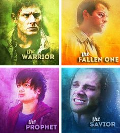 supernatural - The Warrior, The Fallen One, The Prophet and The Savior - Dean Winchester, Castiel, Kevin Tran and Sam Winchester