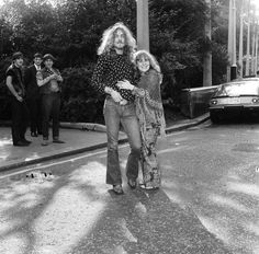 Robert Plant and Sandy Denny, 1970.