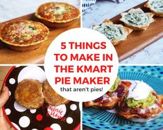 If you think a pie maker is just for making pies, think again! Here are 5 delicious things to make in the KMart pie maker that aren't pies. Mini Pie Recipes, Cooking Recipes, Snack Recipes, Snacks, Breville Pie Maker, Jam Donut, My Favorite Food, Favorite Recipes, How To Make Pie