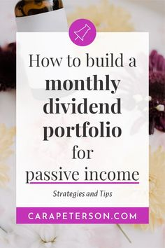 How to build a monthly dividend portfolio for passive income #investing #passiveincome Financial Literacy, Financial Tips, Financial Planning, Affiliate Marketing, Dividend Investing, Dividend Stocks, Creating Passive Income, Investing Money, Saving Money