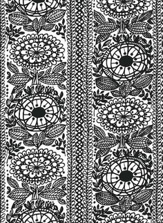 Taimi- paksumpi puuvillakangas Textures Patterns, Print Patterns, Floral Patterns, Ikea Fabric, Crazy Outfits, New Print, Marimekko, Love Flowers, Pattern Paper