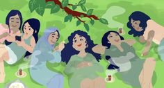 """Sorority ☘Maeril.tumblr.com One lil drawing I did in between my comic projects on institutionalized racism! I'd like to encourage a sorority dynamic among WOC from Central/Western Asia, which is also my own heritage. I know """"Middle-Eastern"""" is a term that is being..."""