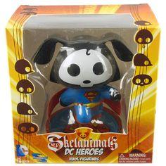 Skelanimals DC Heroes Superman Vinyl Figure