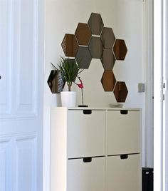 Love how this HÖNEFOSS mirror brightens up this teeny hallway | Snapped in Michelle-Marie's home in Denmark | live from IKEA FAMILY