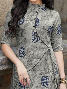 Printed Kurti Designs, New Kurti Designs, Kurta Designs Women, Kurti Designs Party Wear, Blouse Designs, Collar Kurti Design, Kurti Sleeves Design, Kurta Neck Design, Neck Designs For Suits