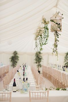 Hanging birdcages with flowers - Bohemian Rustic Country Chic Wedding Birdcage Ivy http://www.lifelinephotography.co.uk/