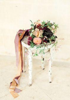 Wild flower wedding bouquet inspiration from a romantic fine art shoot. Photography by Gyan Gurung