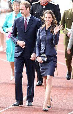 Prince William & Kate. Suit: Amanda Wakely