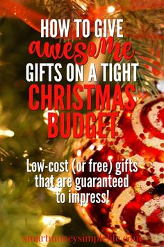 On a tight Christmas budget this year? You need to check out this list of low-cost (or free) gifts that are awesome and guaranteed to impress.