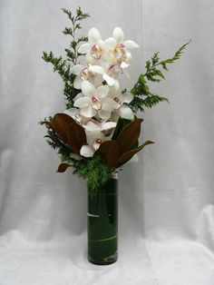 Beautifully exotic orchids make for a unique arrangement of NYC fresh cut flowers
