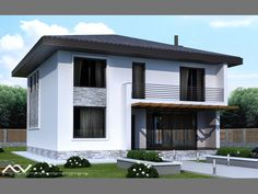 Modern Residential Architecture, Paris Wallpaper, Facade House, Design Case, Home Fashion, House Plans, Sweet Home, Shed, Outdoor Structures
