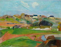Paul Gauguin (artist)  French, 1848 - 1903  Landscape at Le Pouldu, 1890  oil on canvas  overall: 73.3 x 92.4 cm (28 7/8 x 36 3/8 in.)