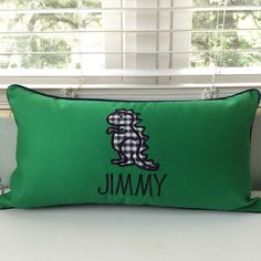 A personal favorite from my Etsy shop https://www.etsy.com/listing/243450677/dinosaur-pillow-cover