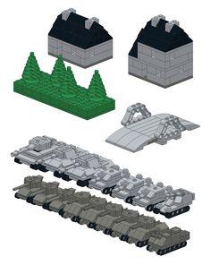 Lego Ww2, Rainbow Six Siege Art, Lego Display, Micro Lego, Lego Mechs, Lego Military, Lego Worlds, Cool Lego Creations, Lego Projects