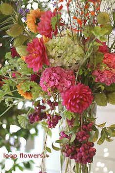 Colorful Flowers for Beach Wedding