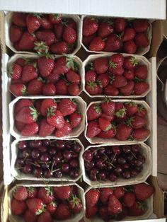 Summer delicates!  #strawberrylover #cherrylover #summer #fruit #ThalbeiGraz #Graz #AT Summer Fruit, Cherry, Strawberry, Food, Graz, Strawberry Fruit, Hoods, Meals, Prunus