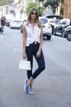 Look do Dia: Jeans e branco