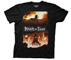 Attack on Titan Shirt- Breaching the Wall. Saw this at hot topic. I think this one is the best AoT shirt out there