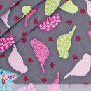 Stoff Tiermotive - Stoff Vogelparadies - grau - Popeline Vögel - ein Designerstück von StickandStyle bei DaWanda