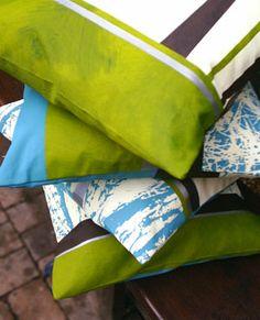 Hand & screen printed cushions