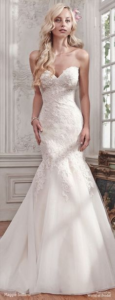 Maggie Sottero Spring 2016 fit and flare wedding dress dresses fit and flare Maggie Sottero Spring 2016 Wedding Dresses - World of Bridal Maggie Sottero Wedding Dresses, 2016 Wedding Dresses, Country Wedding Dresses, Boho Wedding Dress, Wedding Gowns, Bridesmaid Dresses, Mermaid Wedding, Weeding Dresses, Dresses Dresses