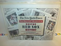 The New York Times Newspaper Boston Red Sox History Compilation 2009