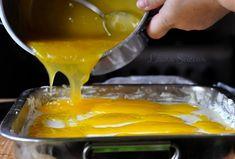 Prăjitura Fanta - prăjitură de casă cu brânză și jeleu de portocale Deserts, Pudding, Food, Custard Pudding, Essen, Postres, Puddings, Meals, Dessert