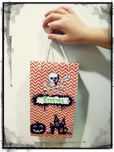 Bolsa chuches para Halloween - Imprimible gratis.