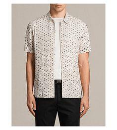 ALLSAINTS New Romantic heart-print woven shirt. #allsaints #cloth #
