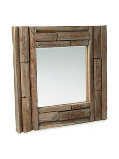 Cool mirror out of reclaimed wood could be recreated