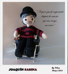 #amigurumi Joaquín Sabina