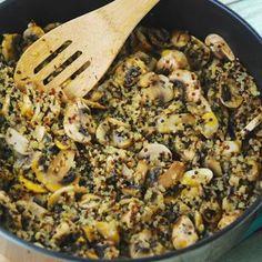 Mushroom & Quinoa Sauté Recipe - LaaLoosh & ZipList