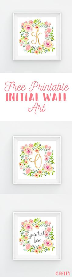 Exclusive Freebie: Stunning Initial Wall Decor