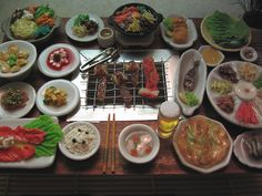 Miniature Food - Korean Dinner