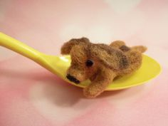 Needle Felted Dog Handmade Wool Puppy by FeltWithAHeart on Etsy